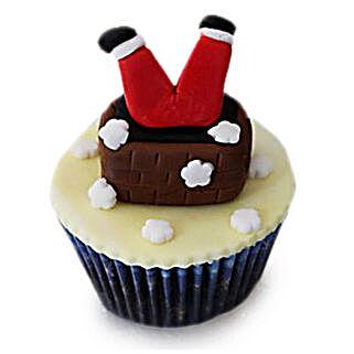 Falling Santa Cupcakes: Send Christmas Gifts to Gurgaon