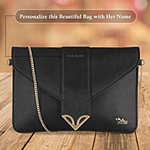 Fashionable Black Sling Bag: Anniversary Personalised Gifts