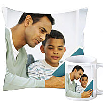 Fathers Day Personalized Combo: Personalised Cushions Pune