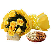 Feeling Of Gaiety: Fathers Day Flowers & Dryfruits
