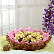 Ferrero Chocolate Basket: Valentines Day Gift Baskets
