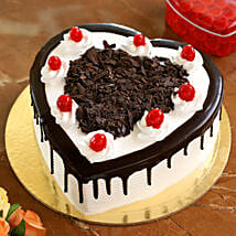Flakey Hearts Black Forest Cake: Romantic Heart Shaped Cakes