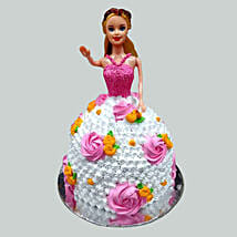 Floral Barbie Cake: Cartoon Cakes