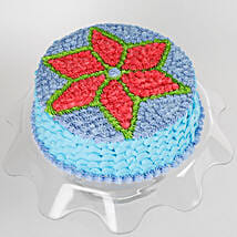Floral Design Cream Cake: Send Mango Cakes to Noida