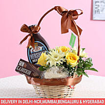 Floral Hershey's Basket: Gourmet Gifts for Him