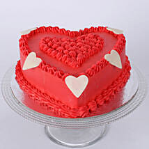 Floral Red Heart Cake: Send Gifts to Miraj