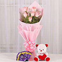 Flowers n Soft toy: Flowers & Teddy Bears