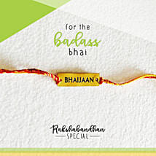 For Your Bhaijaan Quirky Rakhi & Card: Rakhi to Firozpur