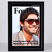 Forbes Special Cover Personalised Frame: Send Personalised Photo Frames for Him