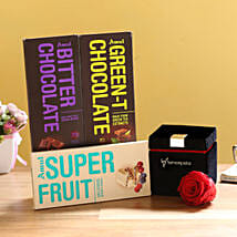 Forever Red Rose & Special Amul Chocolates: Send Flowers to Buldhana