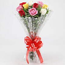 Fragrant Mixed Roses Bouquet: Flower Delivery in Almora