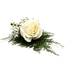 Fresh Flower White Lapel Pin: Send Flowers to SFS Mansarover