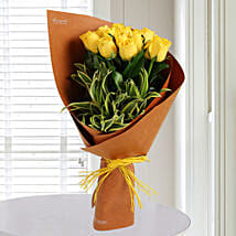 Fresh Yellow Roses Bunch: Brothers Day Gifts