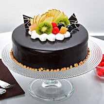 Fruit Chocolate Cake: Send Birthday Cakes to Jalandhar
