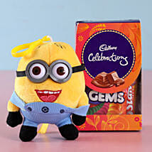 Funky Minion Rakhi & Celebrations Combo: Send Rakhi With Chocolates