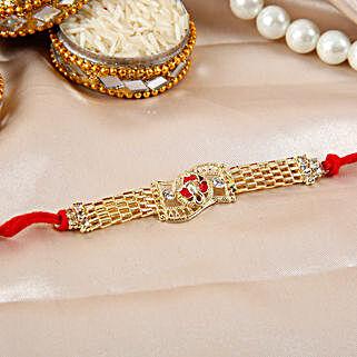 Ganesha Rakhi With Chain: Ethnic Rakhi