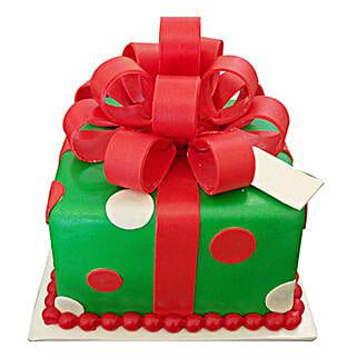Gift Box Christmas Cake: