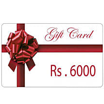Gift Card 6000: Send Wedding Gifts to Tirupur
