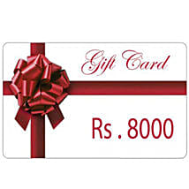 Gift Card 8000: Send Wedding Gifts to Tirupur
