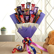 Glistening Choco Bouquet: Birthday Chocolates