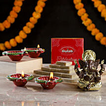 Gold Plated Ganesha & Sweets: Buy Sweets