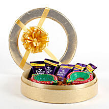 Golden Box Of Diyas & Chocolates: Diwali Gifts for Girlfriend