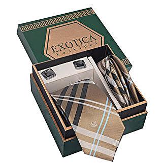 Golden N Black Tie Set: Ties and Cufflinks