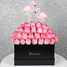 Graceful Pink Roses in a Box: Birthday Gifts for Mom