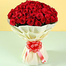 Grand Romance 100 Red Roses: Flower Bouquets