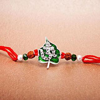 Green Leaf Om Rakhi: Ethnic Rakhi