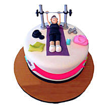 Gym Cake: Cartoon Cakes