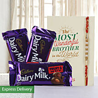 Hamper of fruit n nut chocolates: Send Rakhi to Panchkula