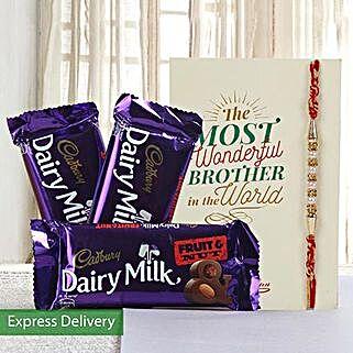Hamper of fruit n nut chocolates: Send Rakhi to Ludhiana
