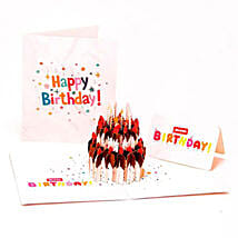 Handmade 3D Pop Up Birthday Cake Greeting Card: Unusual Gifts