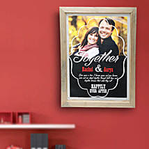 Happily Ever After Personalized Wall Hanging: Valentine Custom Gifts for Boyfriend
