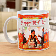 Happy Bday Personalized Mug: Send Personalised Gifts to Wardha