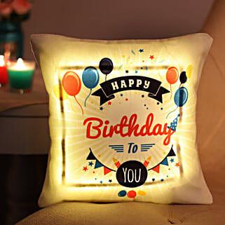 Happy Birthday LED Cushion: