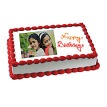 Happy Birthday Photo Cake: Photo Cakes to Ludhiana