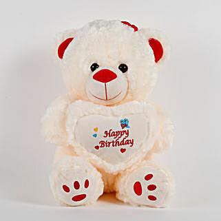 Happy Birthday Teddy Bear Cream: Soft Toys for Birthday