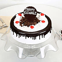 Happy Diwali Black Forest Cake: Diwali Gifts for Girlfriend