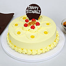 Happy Diwali Butterscotch Cake: Send Diwali Gifts for Her
