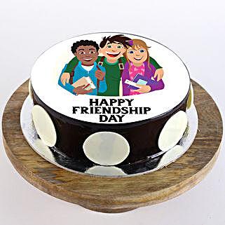 Happy Friendship Day Choco Photo Cake: