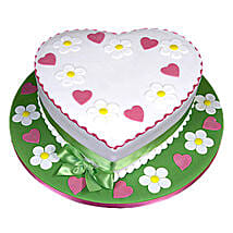 Heart Shape Designer Cake: Send Romantic Chocolate Cakes