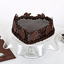 Heart Shape Truffle Cake: Chocolate cakes for anniversary