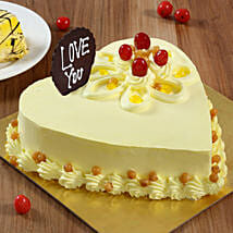 Heart Shaped Butterscotch Cake: Heart Shaped Cakes for Birthday