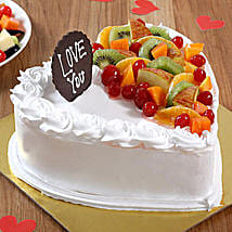 Heart Shaped Vanilla Fruit Cake: Send Heart Shaped Cakes to Thane