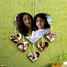Heartshaped Personalized Wall Hanging: Send Personalised Gifts to Vasai
