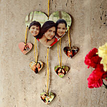 Heartshaped Personalized Wall Hanging: Send Personalised Gifts to Sirsa