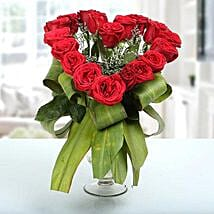 Heartshaped Vase Arrangement: Send Flowers to Siliguri