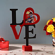 Hearty Love Frame: Send Valentine Personalised Gifts